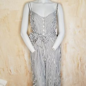 Guess Striped Jumpsuit Size 4